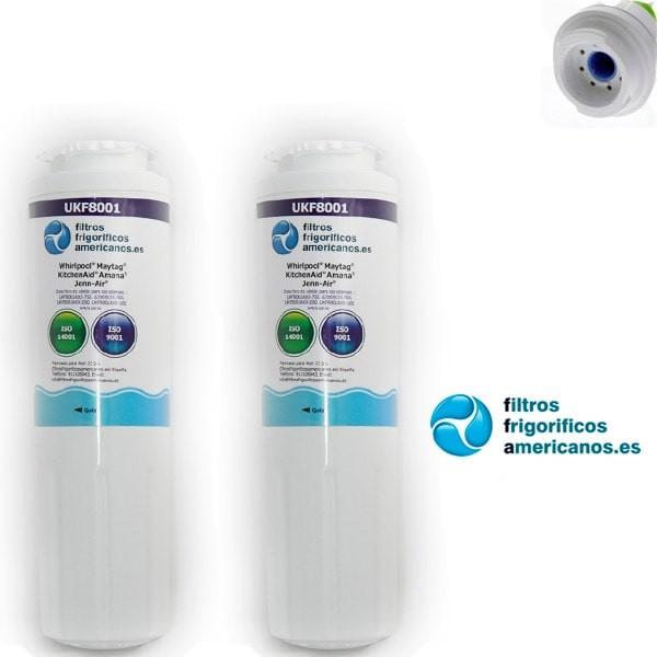 Pack 2 filtros Geladeira interna compatível UKF8001-UKF8001AXX[UKF8001AXX]