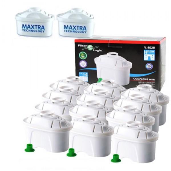 Pack 12 filtros para Jarro Brita tipo Maxtra e 2 gratuitos[1025373]